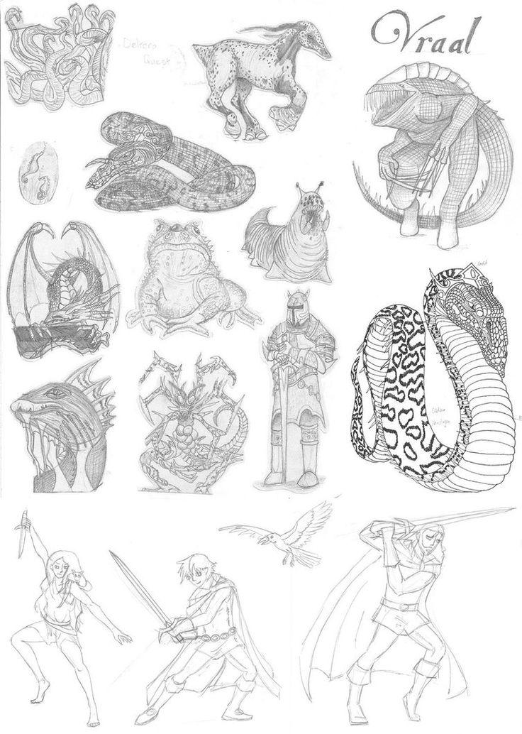 Deltora quest sketchdump 1 art anime episodes anime