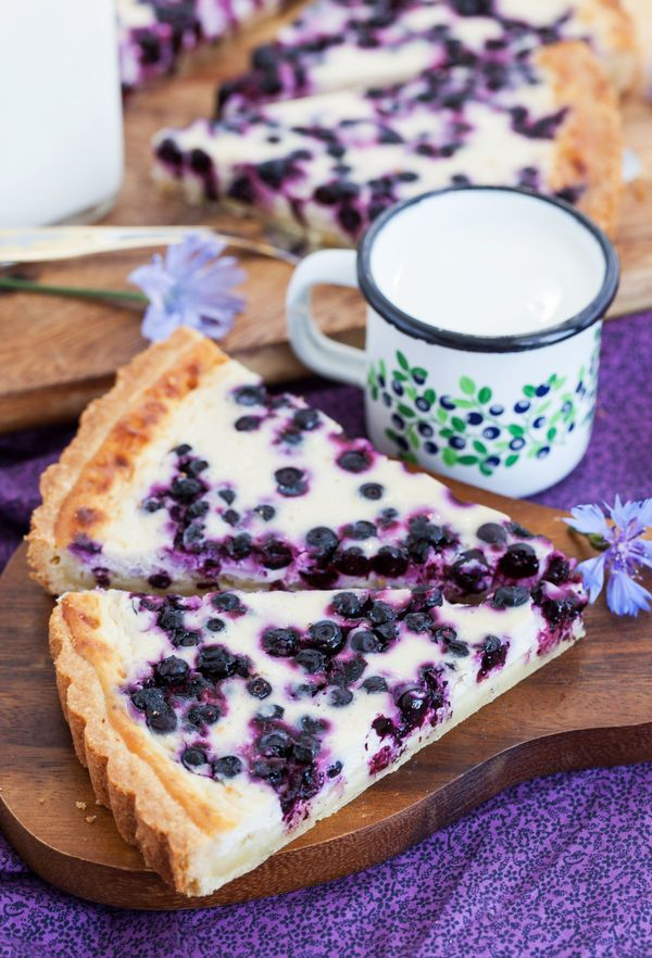 Elegant Blueberry Honey Ricotta Tart