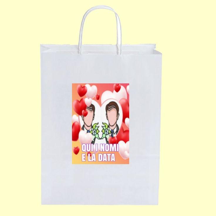 50  Wedding Bags matrimonio gay personalizzate 18x8x24   WB GAY 003 + OMAGGIO