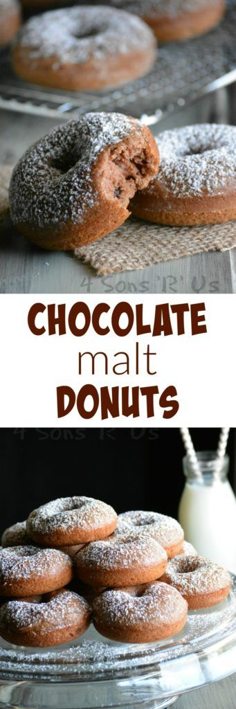 We've packed the flavors of chocolate malt and cake into one wholesome donut recipe. Pair them with a cold glass of milk for a great start or end to any day! #CarnationBreakfastEssentials #ad