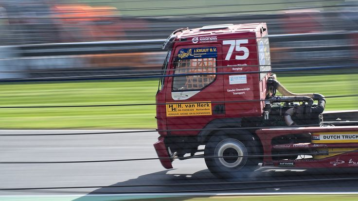 No. 75, Marco Donk, Volvo VM, BTRA Championship Division 2, The British Truck Racing Association Championship (BTRA and BTRC) at Brands Hatch.