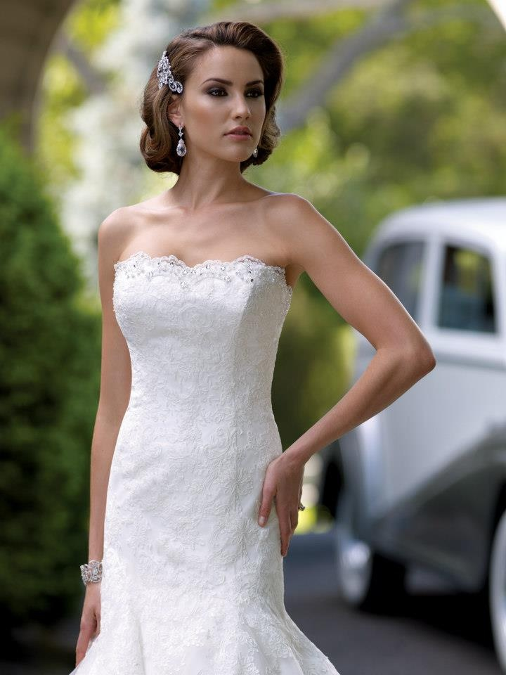 Bridal Dress from white lace - A line by David Tutera 113208
