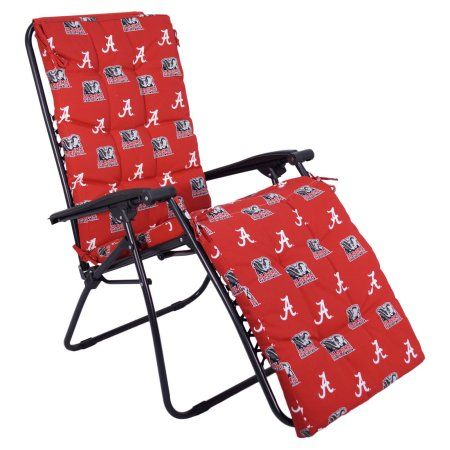 College Covers Ncaa Alabama Outdoor Chaise Lounge Cushion, White