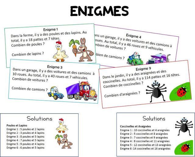 Remue Meninge Enigmes Multiplicatives Problemes Ouverts Cycle 2 Jeux Mathematiques Ce2 Jeux A Imprimer Mathematiques Montessori