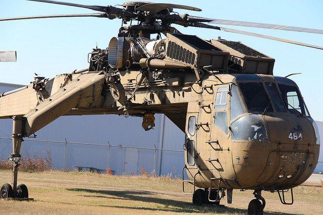 Sikorsky CH - 54B Skycrane Helicopter by CDjunkie, via Flickr ~Viet Nam Warrior