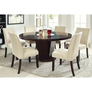 Amazing Furniture Of America Lolitia 7 Piece Espresso Round 60 Inch Dining Table Set  (Espresso), Brown, Size 7 Piece Sets