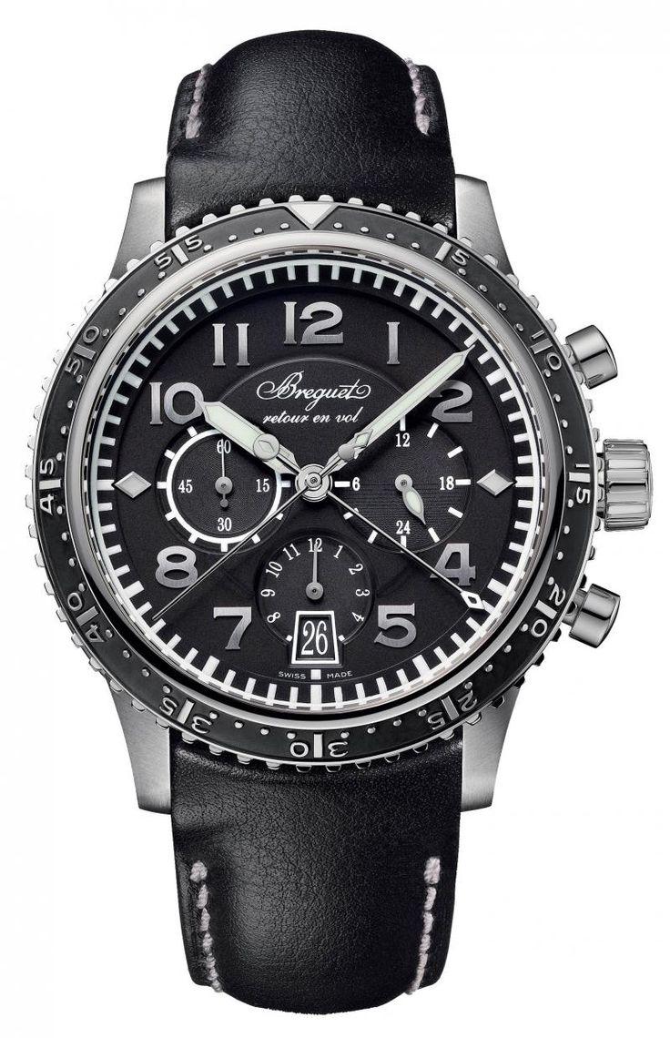 Breguet 3810TI/H2/3ZU Type XX/Type XXI Chronograph Titanium. #Breguet - черные - швейцарские мужские наручные часы