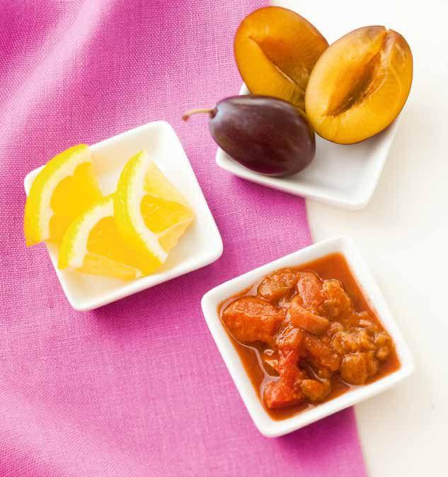 Rezept für ein fruchtig-würziges Birnen-Pflaumen Chutney