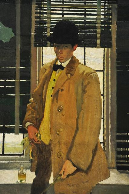 Self-Portrait, ca. 1910 William Orpen (British, 1878–1931), detail. MET, NYC by renzodionigi, via Flickr