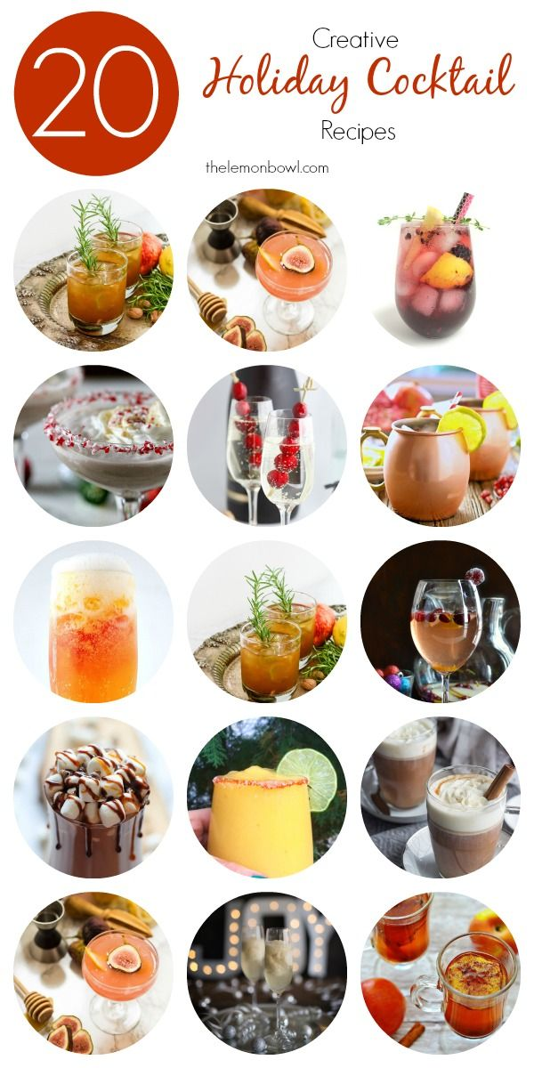 20 Creative Holiday Cocktail Recipes – Just in tim…