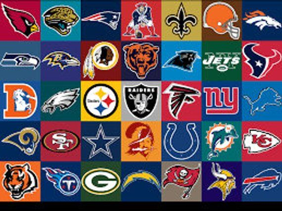 Nfl Logo Decals Multiple Colors And Sizes Available Nfl Teams