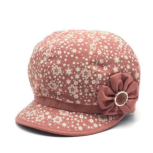Women Travel Painter Octagonal Cap Vintage Beret Hat at Banggood