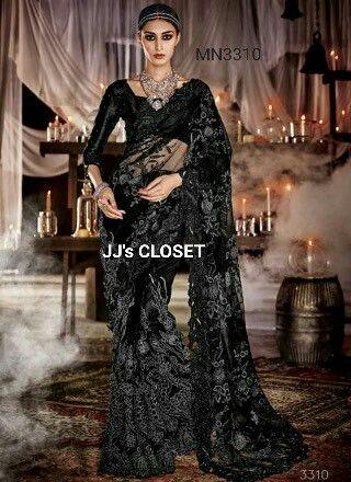 Designer Black Saree from JJ's CLOSET Online Store