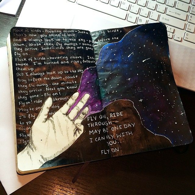 art journal inspiration by @bellzzub