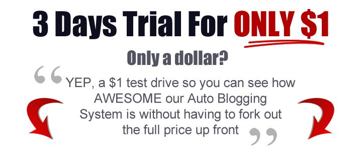 grab this awesome tool before the $1 trial is going away. It will do magic to your blog traffic. Works with blog beast and wordpress blogs