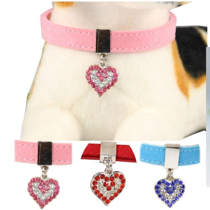 Отзывы Кожаный ошейник для собак Розовый красный голубой ...