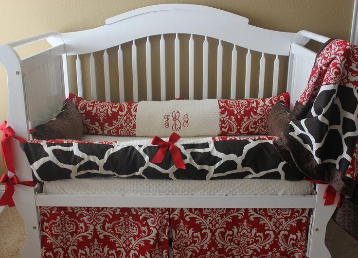 Custom Baby Bedding Crib Set 6 pc set. $435.00, via Etsy.