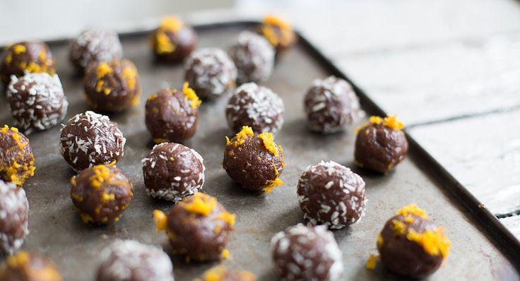 Raw chocolate orange oat balls