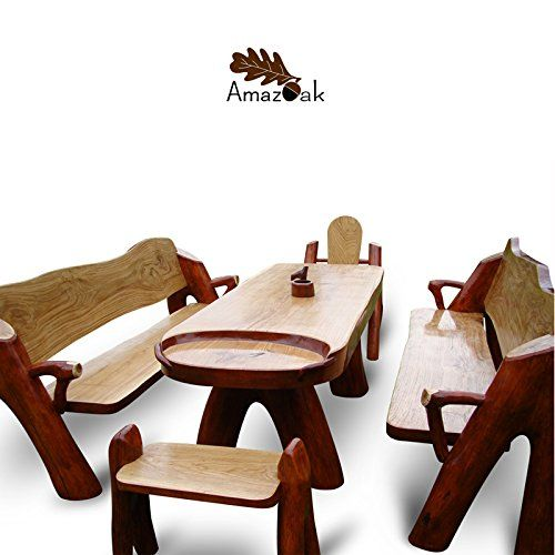 Amazoak 6-Piece Wooden Garden Furniture Set Handmade Solid Oak Table Armchair Bench X2 Stool Ashtray Made to Order Amazoak http://www.amazon.co.uk/dp/B00RYE0EM4/ref=cm_sw_r_pi_dp_kFwqvb0JS0NSK