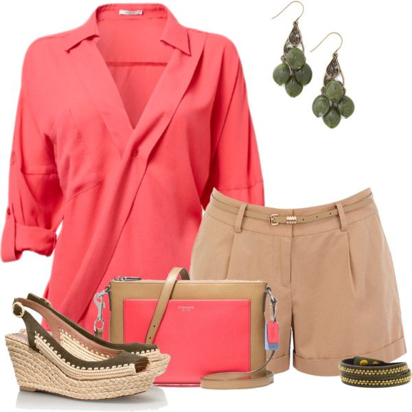A fashion look from May 2013 featuring Oasis shorts, Tory Burch sandals and Coach shoulder bags. Browse and shop related looks.