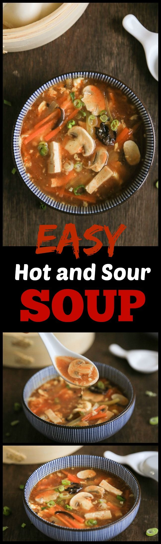 This easy and delicious hot and sour soup is just so much better than the Chinese takeout version with fresh ingredients and no MSN. Best of all, it only takes 20 minutes to put together.