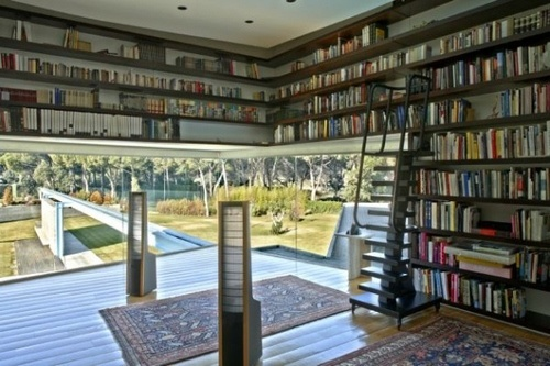Personal #library: Bookshelves, Dreams Libraries, Idea, Architects, Home Libraries, Window, Books Shelves, Homes, Houses Design