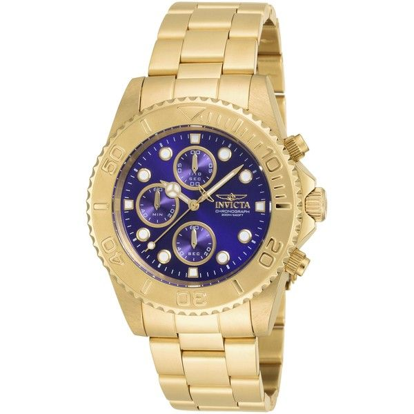 Invicta Men's 19157 Pro Diver Quartz Multifunction Blue Dial Watch ($115) ❤ liked on Polyvore featuring men's fashion, men's jewelry, men's watches, blue, mens blue dial watches, invicta mens watches, mens watches jewelry and mens blue watches