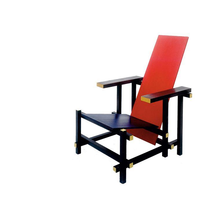 Natuurlijk moeten we Gerrit #Rietveld niet vergeten. Hij gaf in zijn tijd vorm aan de #modernisering d.m.v. #eenvoud en #abstractie. Zijn ontwerp van de #Rood-blauwe #stoel is hier een schoolvoorbeeld van. Deze stoel was #asymmetrisch en bestond uit slechts een aantal houten onderdelen en kleuren, waardoor deze #eenvoudig te produceren was.