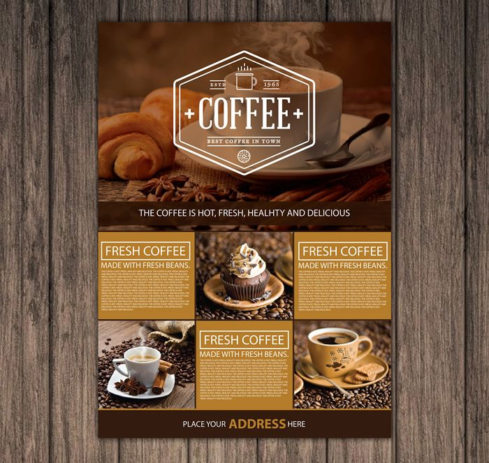 121 best Flyer Templates images on Pinterest Free basketball - coffee shop brochure template