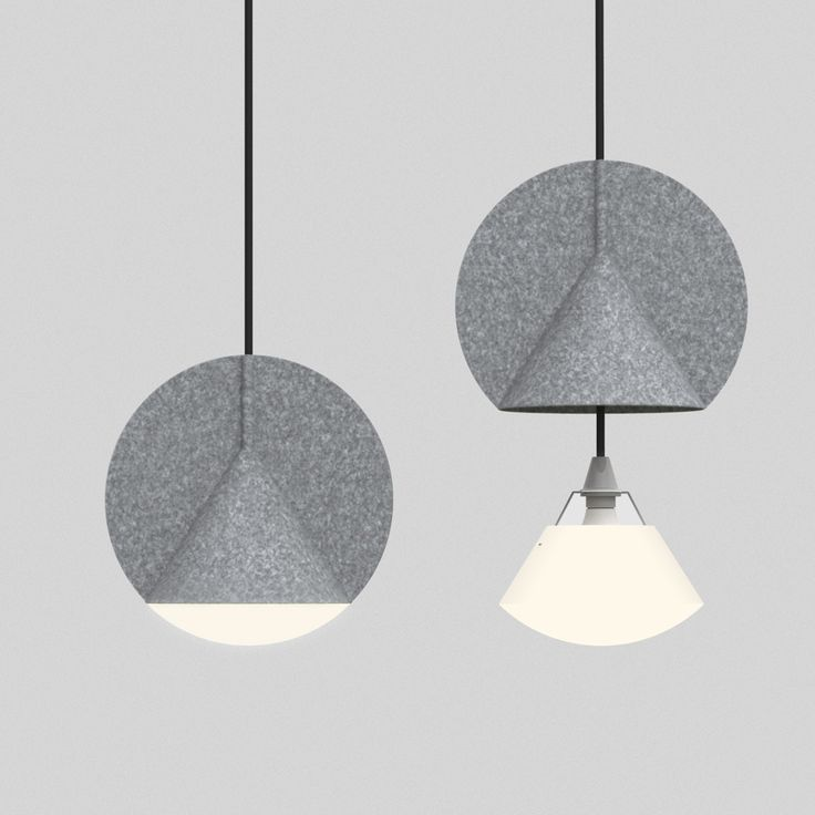 Heat-compressed felt lamp from design collective Outofstock for Bolia.