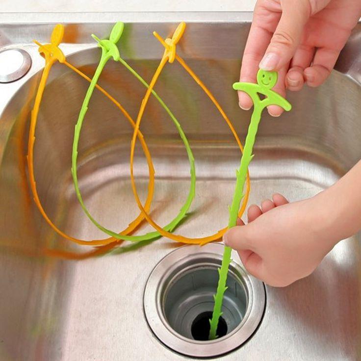 Cepillo de limpieza de limpieza Del Fregadero gancho dispositivo de dragado tubería de alcantarillado desagüe del baño piso pequeñas herramientas Hogar Creativo Wc Lavabo Bañera de Alcantarillado