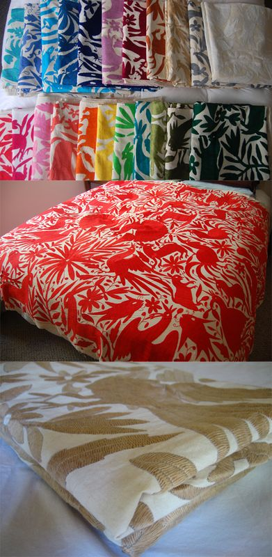 otomi bedspread, mexico, bought 4 of these while on vacation recently in aqua, navy, green, and raspberry.  LOVE!