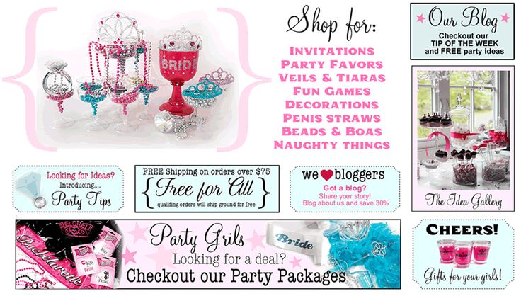 Storefront - Bachelorette Party Superstore