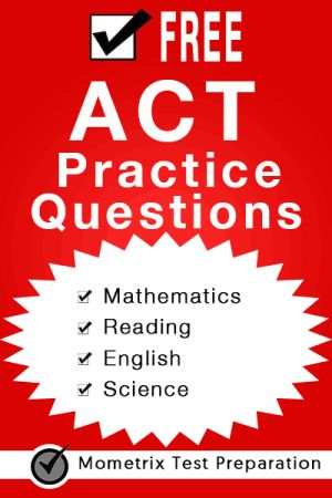 Free ACT Practice Questions