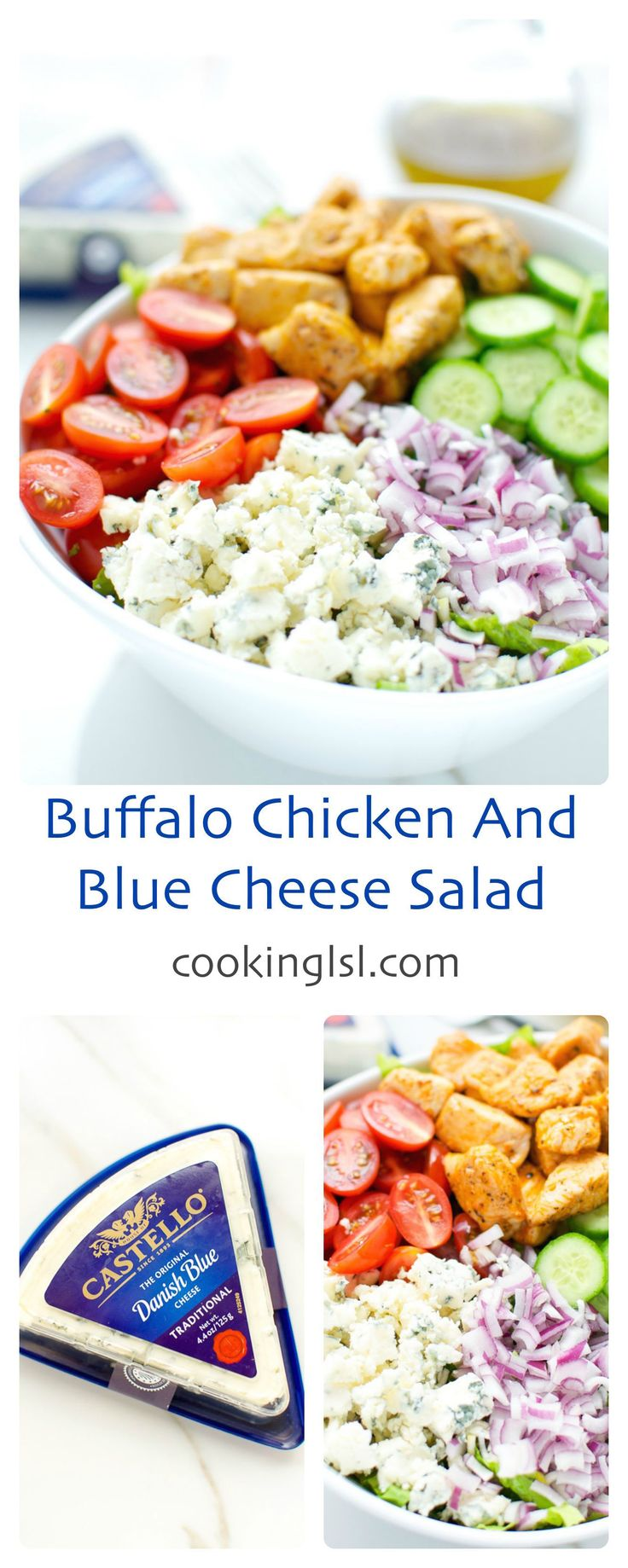 Buffalo Chicken Thighs With Celery And Blue Cheese Salad Recipe ...