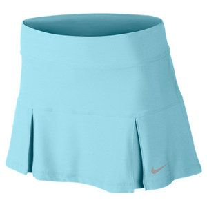 "You'll love the longer length! The Nike Women's Four Pleated Knit 14"" Tennis Skirt in stunning Glacier Ice #nike #tennis #skirts"
