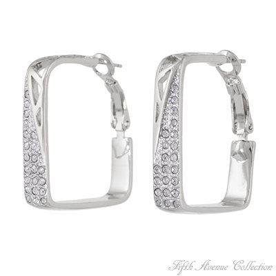 Rhodium Earring - Geometric Class - Australia - Fifth Avenue Collection - Jewellery that changes the way you see fashion
