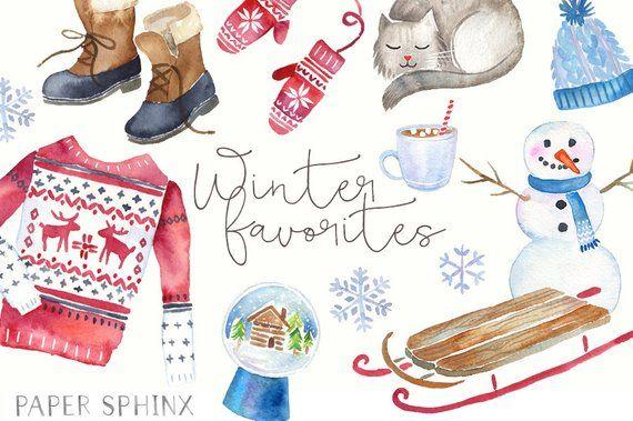 Diese grafischen Elemente von Winter Essentials unterstützen Sie beim Übergang in den Winter …   – Winter – Clipart