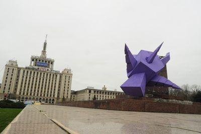Romanian Contemporary Sculpture Valentin Soare  ,,The star has a name,, Project 1990 Free Press Square Bucharest Romania 2013