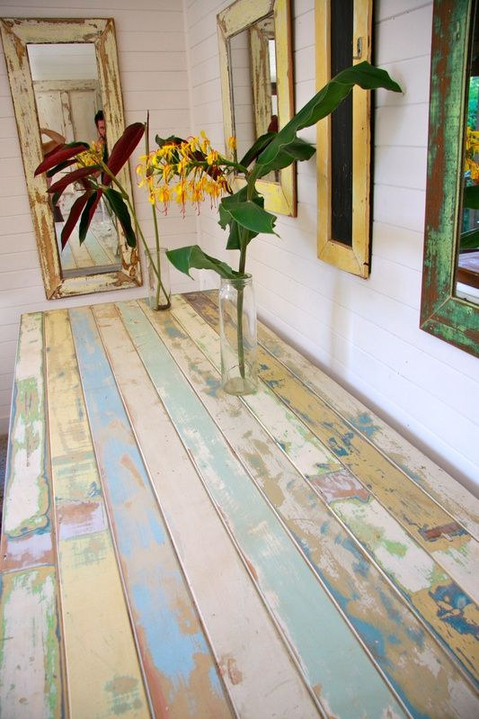 reclaimed timber table or a great FLOORBeach House, Reclaimed Wood Tables, Patinas Wood
