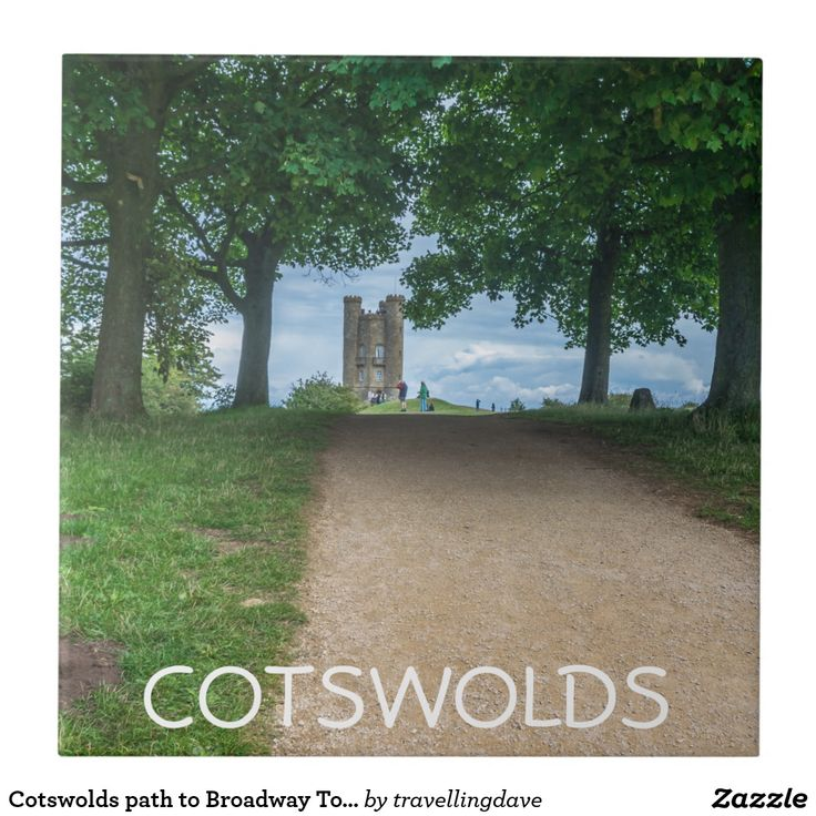 Cotswolds path to Broadway Tower ceramic tile