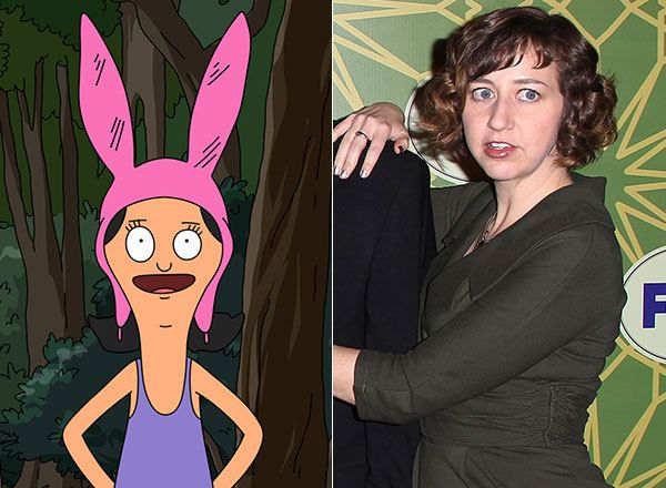 "Meet The Actors Who Voice Your Favorite Animated Families. Louise Belcher/Kristen Schaal Louise Belcher, the youngest daughter on ""Bob's Burgers,"" is voiced by actress Kristen Schaal. The ""Daily Show"" veteran has also appeared on ""30 Rock"" and ""Flight of the Conchords."""