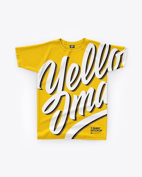 T-Shirt Mockup – Top View
