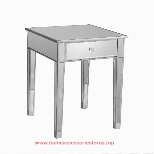 Mirage Mirrored Accent Table  BUY NOW     $109.00    Perfect for any room, this mirrored end table is a glamorous complement for your home. With its mirrored finish, it adapts to ..  http://www.homeaccessoriesforus.top/2017/03/20/mirage-mirrored-accent-table/