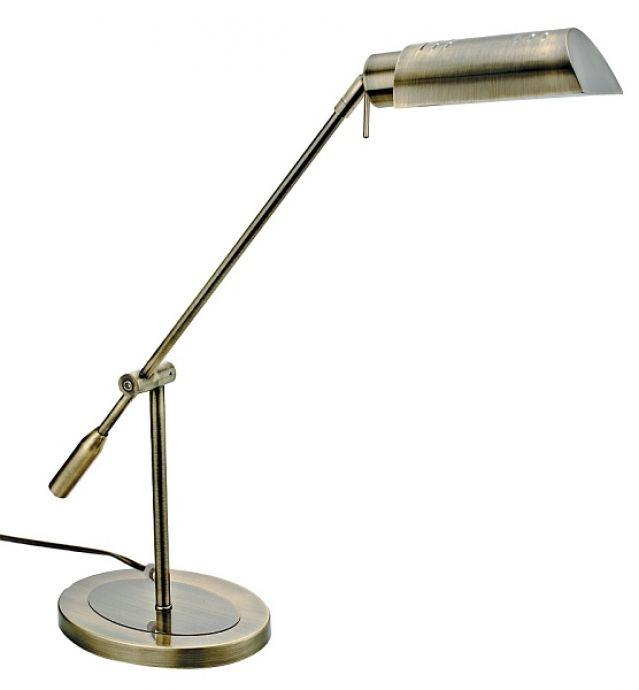 lampa de birou AMIR 4220 bronz, cu inaltime ajustabila si abajur orientabil, marca RabaLux