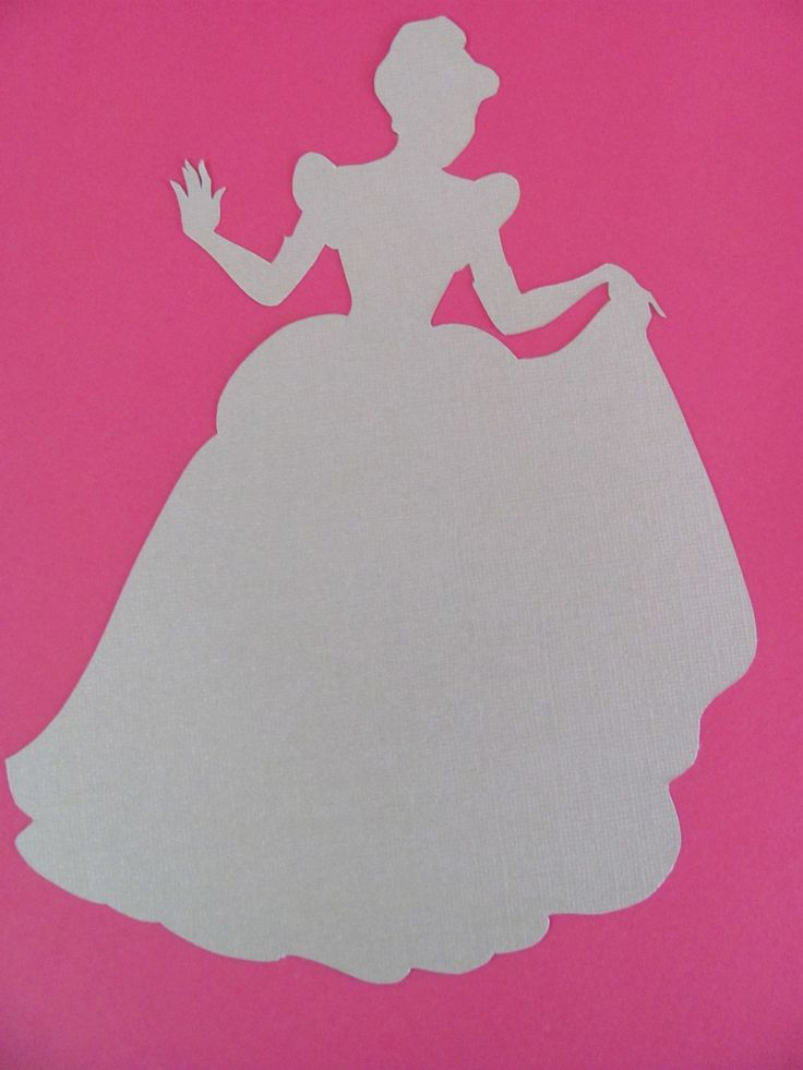 Disney inspired Princess Cinderella silhouette for a nursery or little girl's room, Paper Art. $8.00, via Etsy.