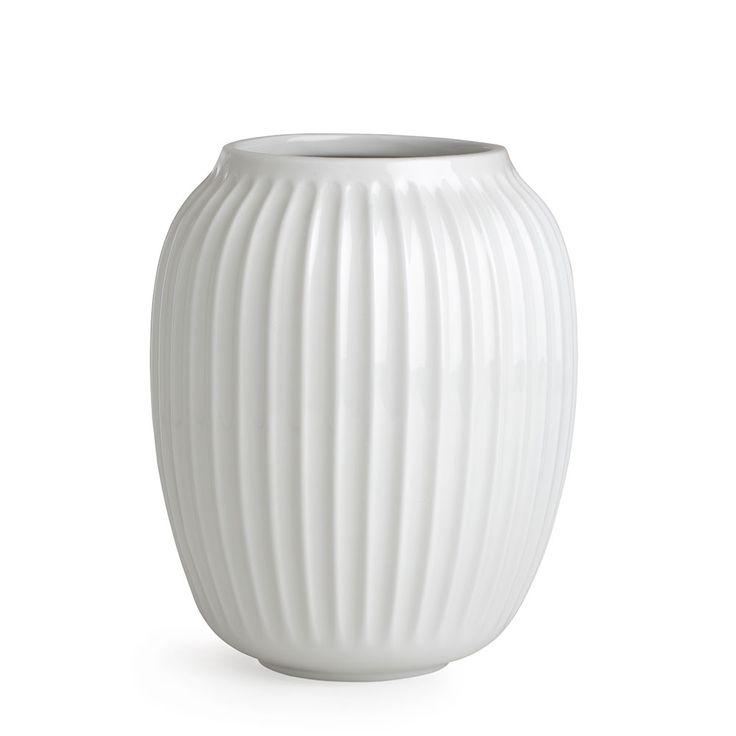 Hammershøi+Vase+H20cm,+Hvit,+Kähler