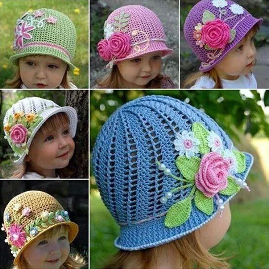 Flower crochet hats!