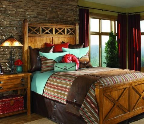 rustic bedroom decor southwestern bedding at timberline western 13099
