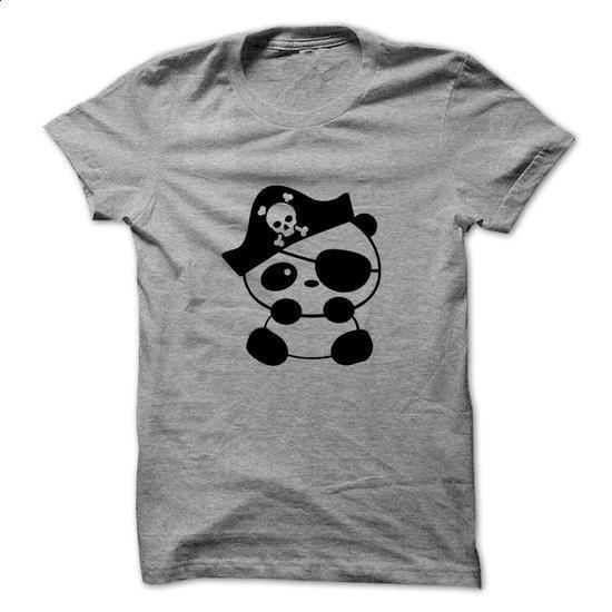 Pirate Panda T-Shirt - printed t shirts #clothing #T-Shirts